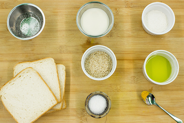 French Toast ingredients #bread #almond milk | hurrythefoodup.com