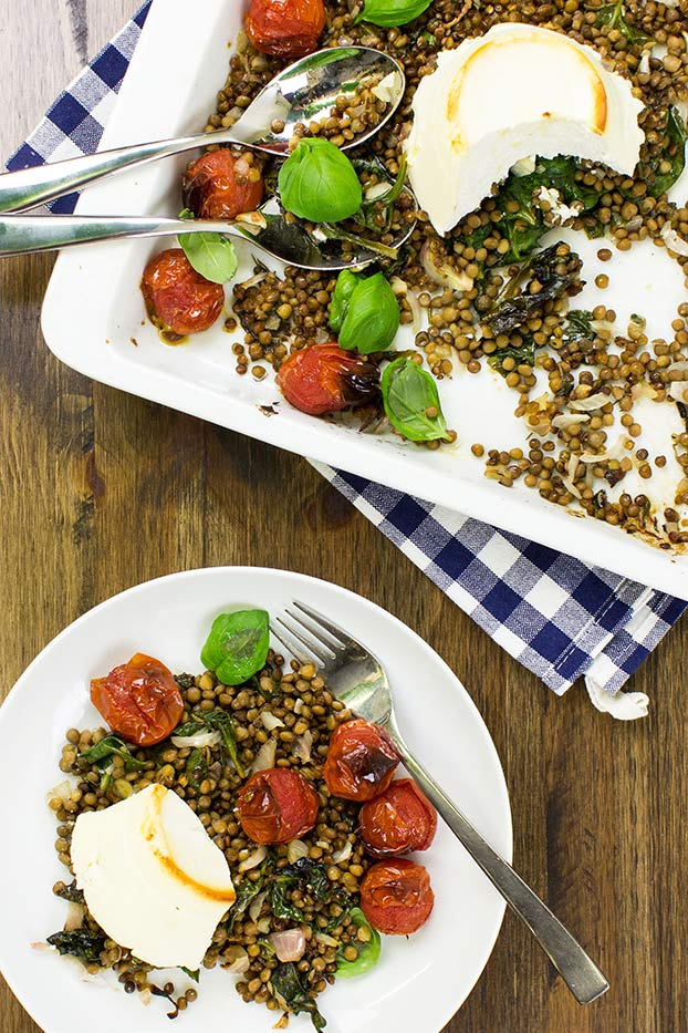 Ricotta Bake – let the oven do the work - ricotta bake dish #pepper #lentils | hurrythefoodup.com
