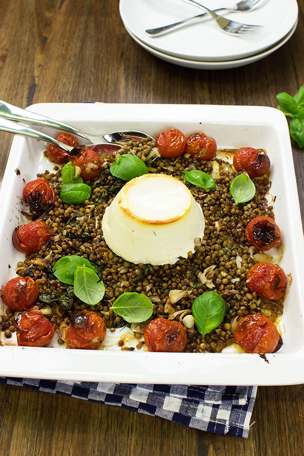Ricotta Bake – let the oven do the work - the dish is ready #ricotta #cherry tomatoes | hurrythefoodup.com