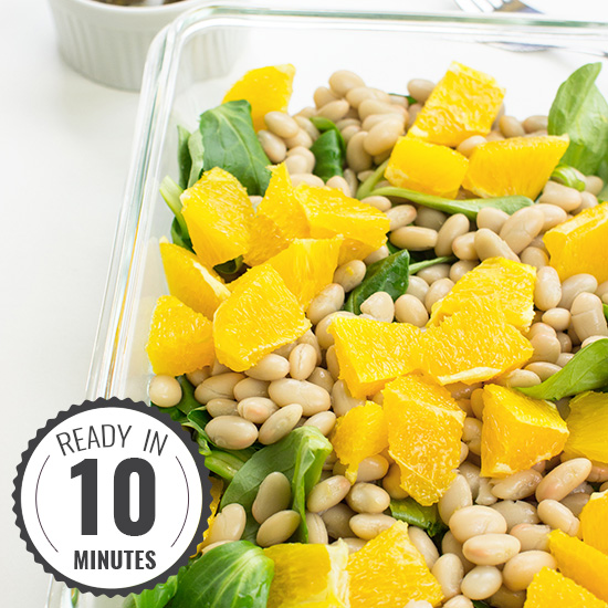 Speedy White Bean Salad - Make Lunch a Joy | hurrythefoodup.com