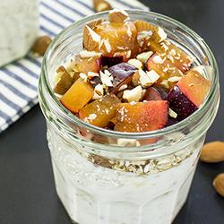 Healthy Yogurt Parfait - Fruity, nutty, yummy | hurrythefoodup.com