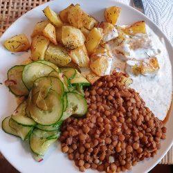 Crispy Potato Lentil Buddha Bowl