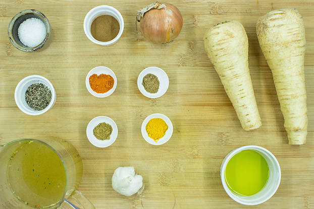 Curried Parsnip Soup – For Olympic Strength - Curried Parsnip Soup ingredients #onion #garlic | hurrythefoodup.com