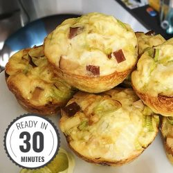 Smoked Tofu Breakfast Egg Muffins #vegetarian #muffin | hurrythefoodup.com