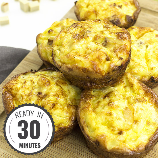 Smoked Tofu Breakfast Egg Muffins | hurrythefoodup.com