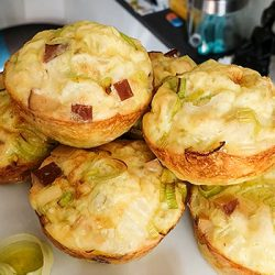 Smoked Tofu Breakfast Egg Muffins #vegetarian #muffin | hurrythefoodup.com