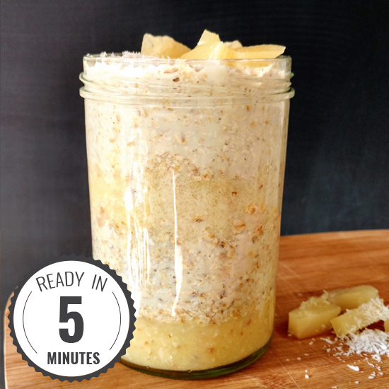 Tropic Thunder Overnight Oats | hurrythefoodup.com