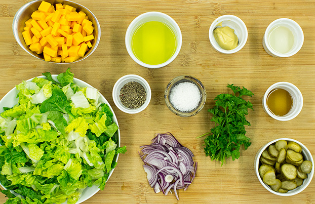 Salad ingredients #white wine vinegar #mustard | hurrythefoodup.com