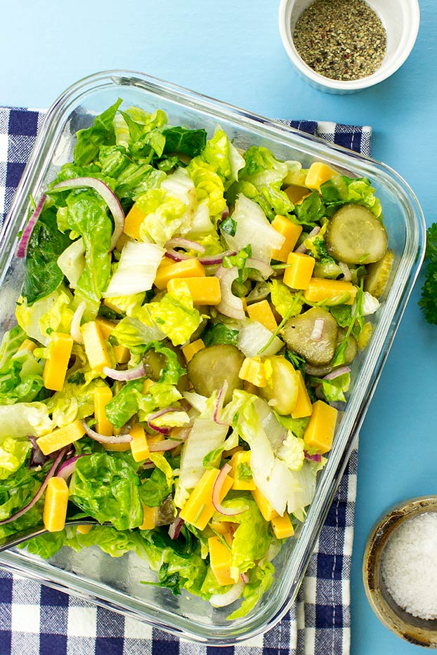 Salad is in the lunch box #red onion #salad | hurrythefoodup.com