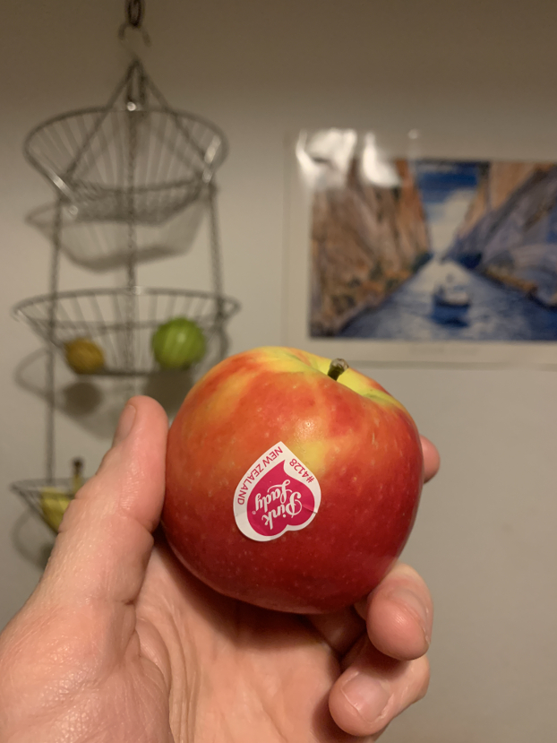 Apple from New Zealand – photo courtesy of HurryTheFoodUp - recipes for future and food for future