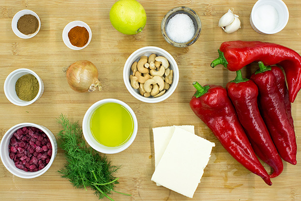 Recipe ingredients #sweet peppers #halloumi | hurrythefoodup.com