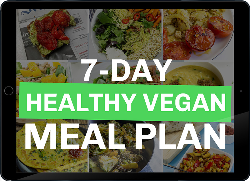 7 day healthy vegan meal plan title image