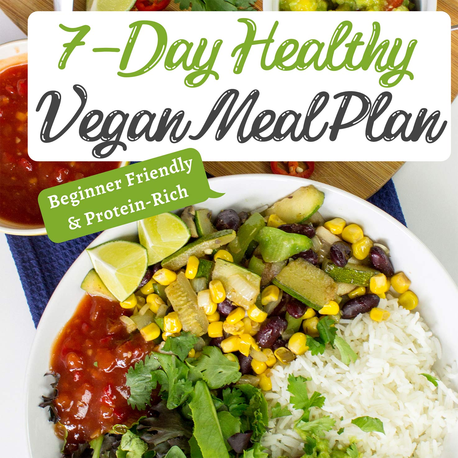 7 day vegan meal plan featured image