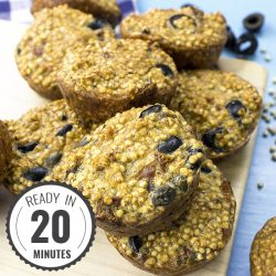 Fluffy Quinoa Egg Muffins – Perfect for Breakfast, Lunch or Dinner! | hurrythefoodup.com