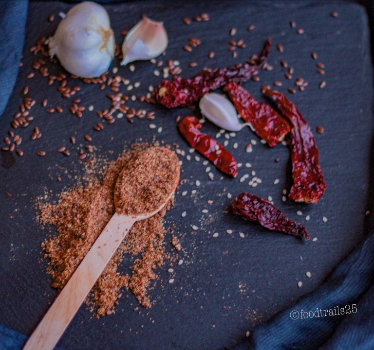 Flaxseed Chutney (Dry) / Alsi ki Chutney (Powder) | hurrythefoodup.com