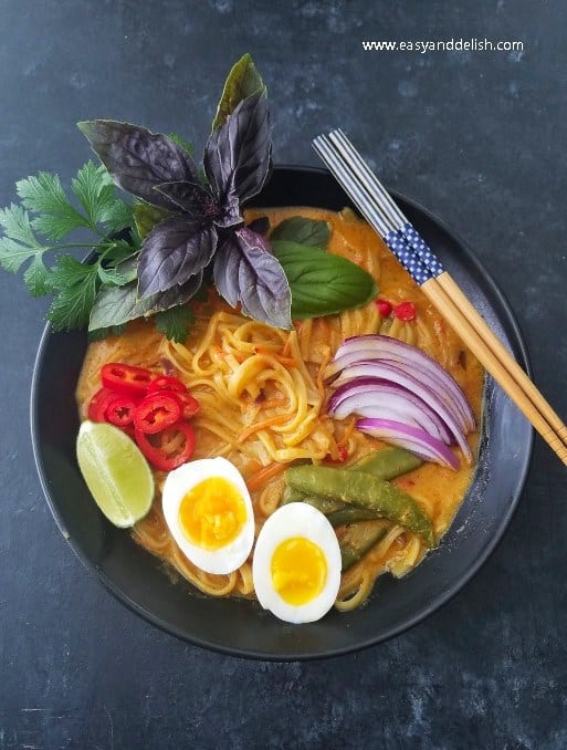 20-Minute One Pot Coconut Noodle Soup | hurrythefoodup.com