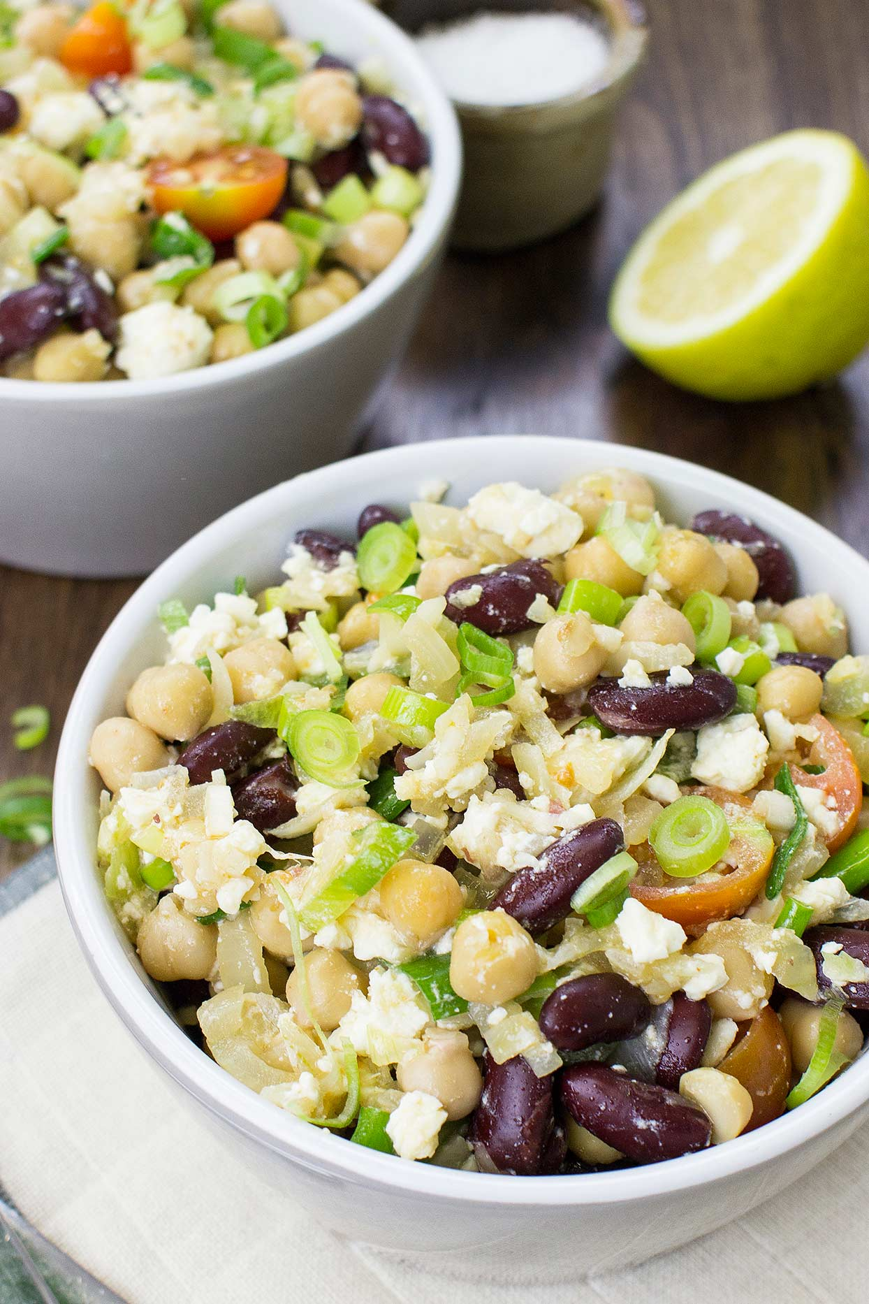 Salad is ready #lemon #salt   hurrythefoodup.com