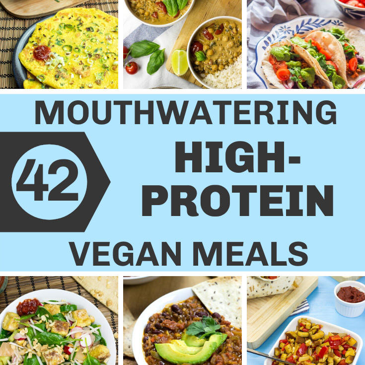 42 Mouthwatering High-protein Vegan Recipes | hurrythefoodup.com