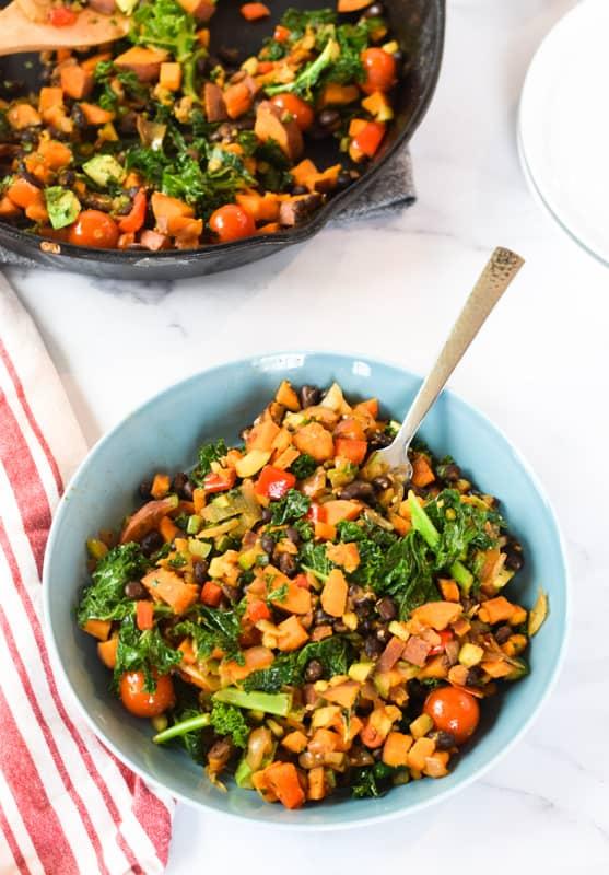 Sweet Potato Kale Hash   hurrythefoodup.com