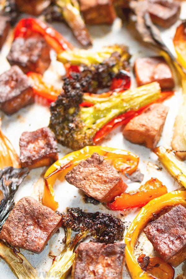 Baked Tofu with Vegetables (Sheet Pan) Recipe | hurrythefoodup.com