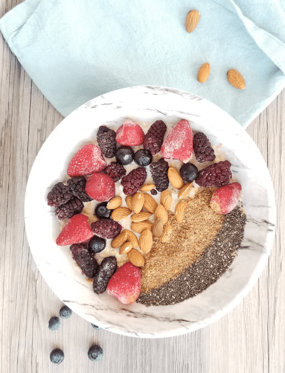 Easy Vegan High Protein Breakfast Bowl | hurrythefoodup.com