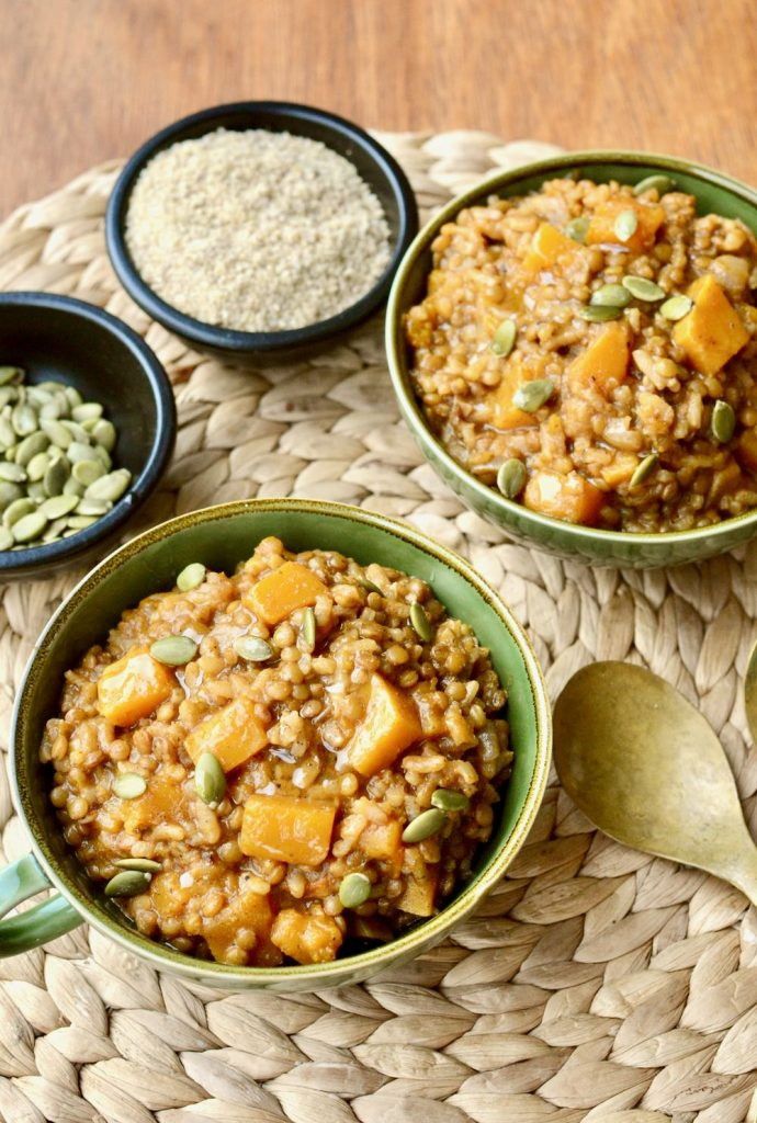 Lentil Risotto with Butternut Squash | hurrythefoodup.com