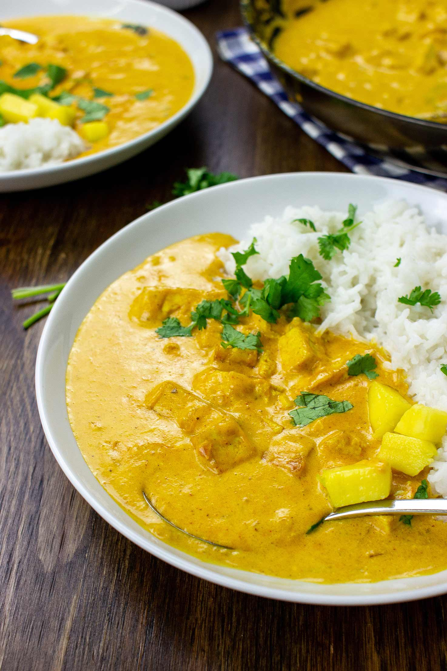 Mango Curry is ready #basmati rice #tofu | hurrythefoodup.com