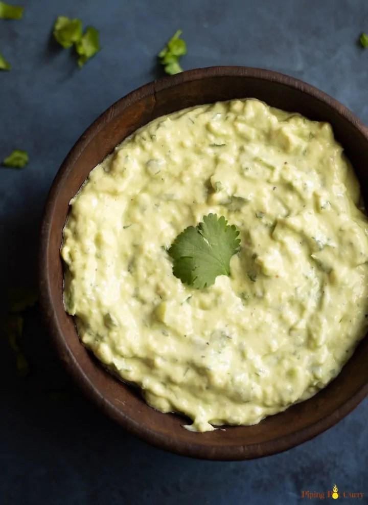 Creamy Avocado Cilantro Sauce | hurrythefoodup.com
