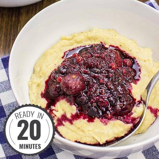 Cornmeal Porridge – A Blissful Vegan Breakfast | hurrythefoodup.com