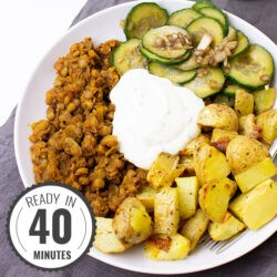Crispy Potato Buddha Bowl | hurrythefoodup.com