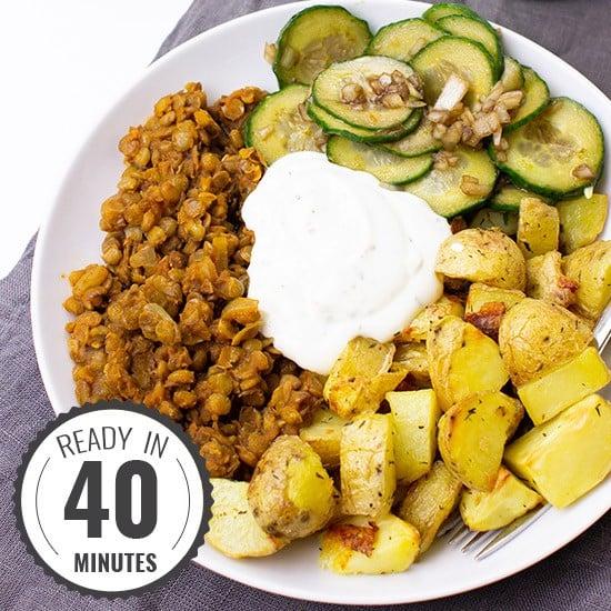 Crispy Potato Buddha Bowl | hurrythefoodup.com