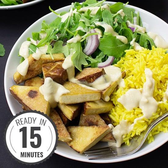 Smoked Tofu & Hummus Buddha Bowl | hurrythefoodup.com