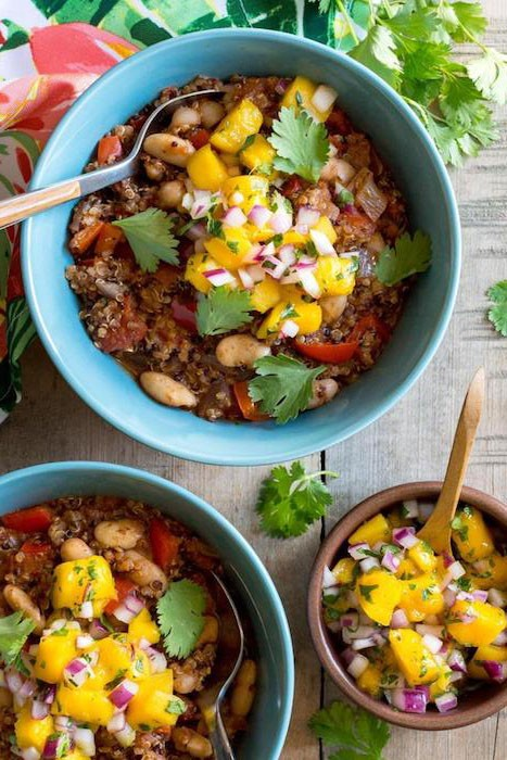 45 most popular vegan dinners – Vegan Jamaican Jerk Chili with Mango Salsa | Hurry The Food Up