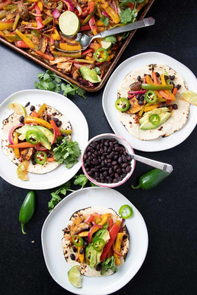 45 most popular vegan dinners – Sheet Pan Veggie Fajitas | Hurry The Food Up
