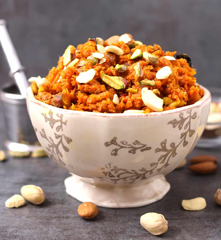 55 Vegetarian Indian Recipes – Carrot Halwa (Gajar Ka Halwa) | Hurry The Food Up