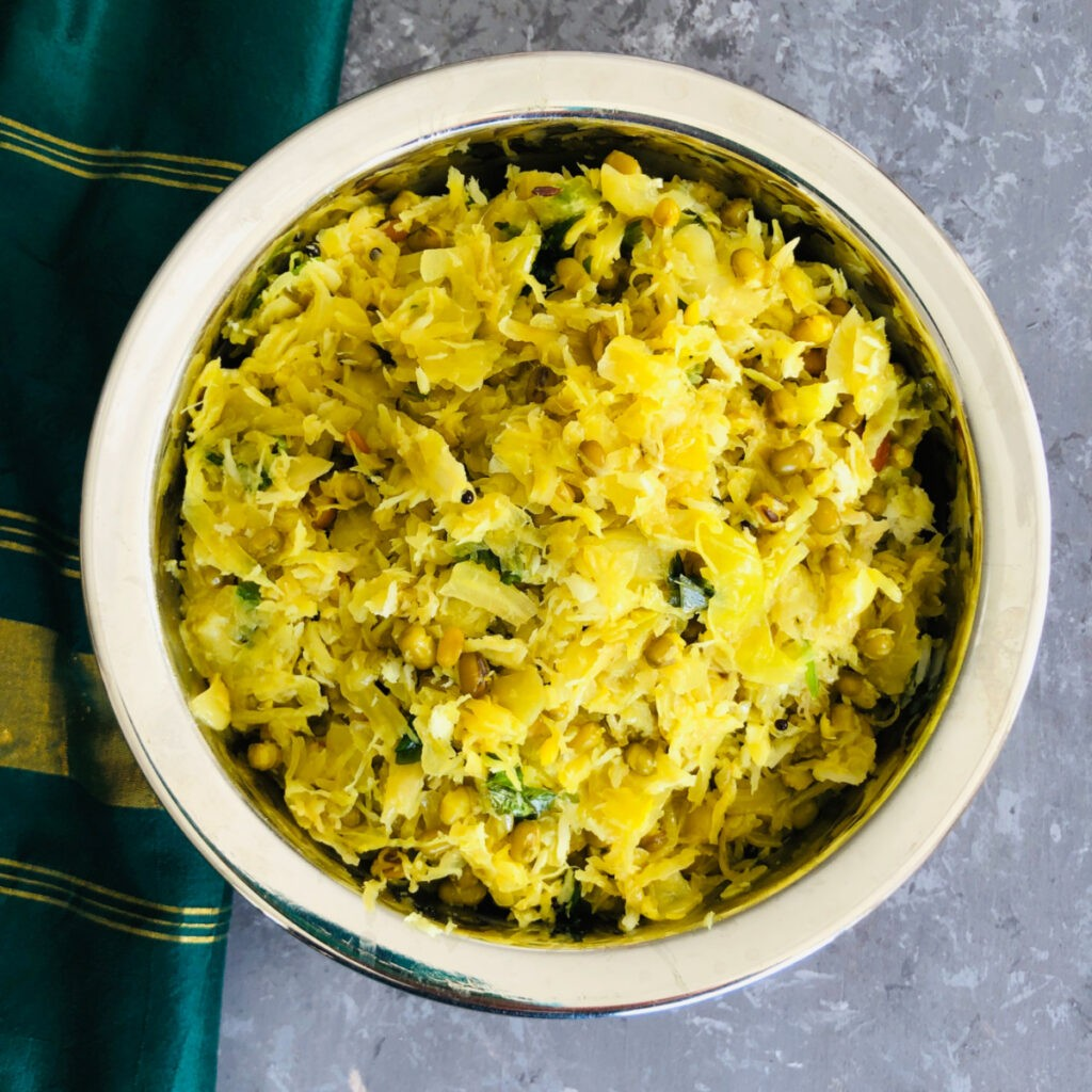 55 Vegetarian Indian Recipes – Cabbage palya | Hurry The Food Up