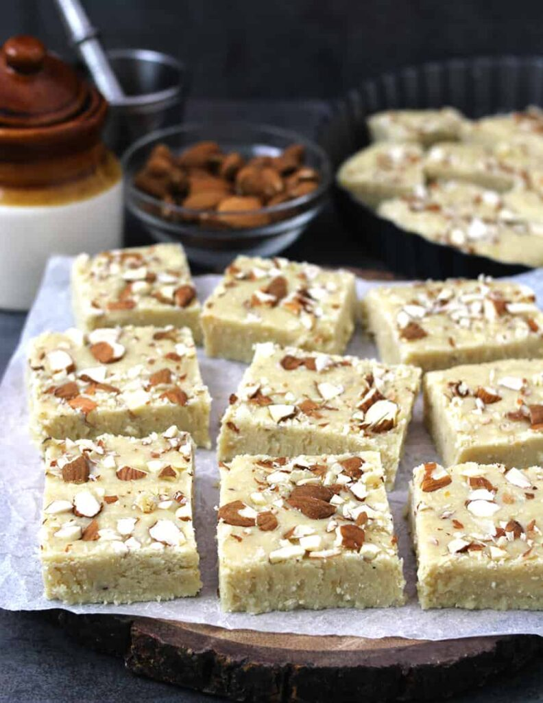 55 Vegetarian Indian Recipes – Milk Barfi or Milk Powder Burfi Sweet Recipe | Hurry The Food Up