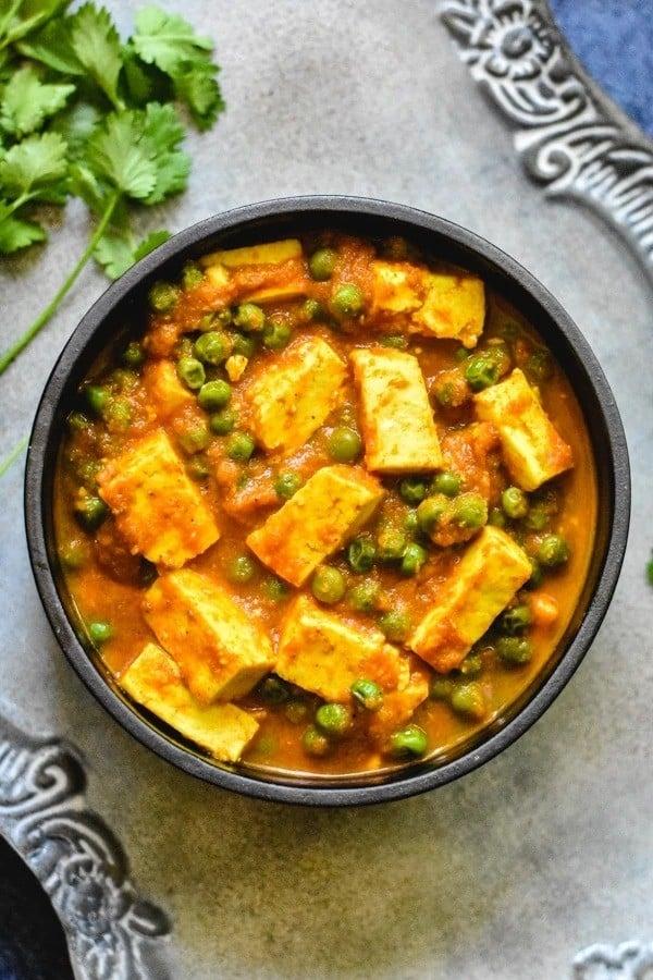 55 Vegetarian Indian Recipes – Matar Paneer - Instant Pot | Stove | Hurry The Food Up