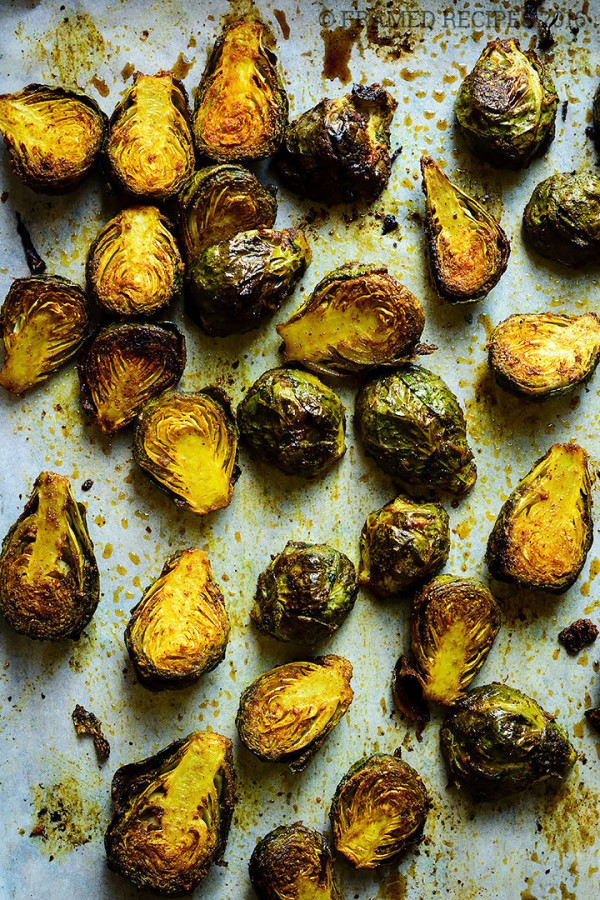 55 Vegetarian Indian Recipes – Oven Roasted Brussel Sprouts | Hurry The Food Up