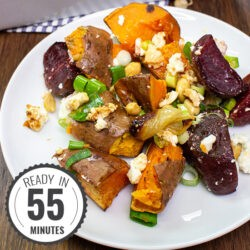 Sweet Potato and Feta Bake (Yams Bake) | Hurry The Food Up