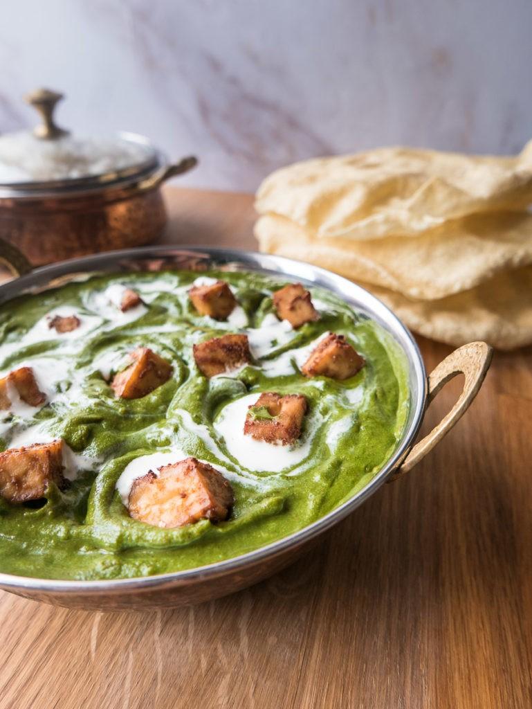 55 Vegetarian Indian Recipes – Vegan Palak Tofu Paneer | Hurry The Food Up