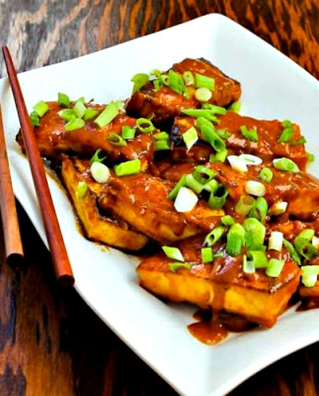 Top 10 Most Popular Vegan Keto Recipes - Delicious and satisfying - Peanut Butter Tofu With Sriracha | Hurry The Food Up