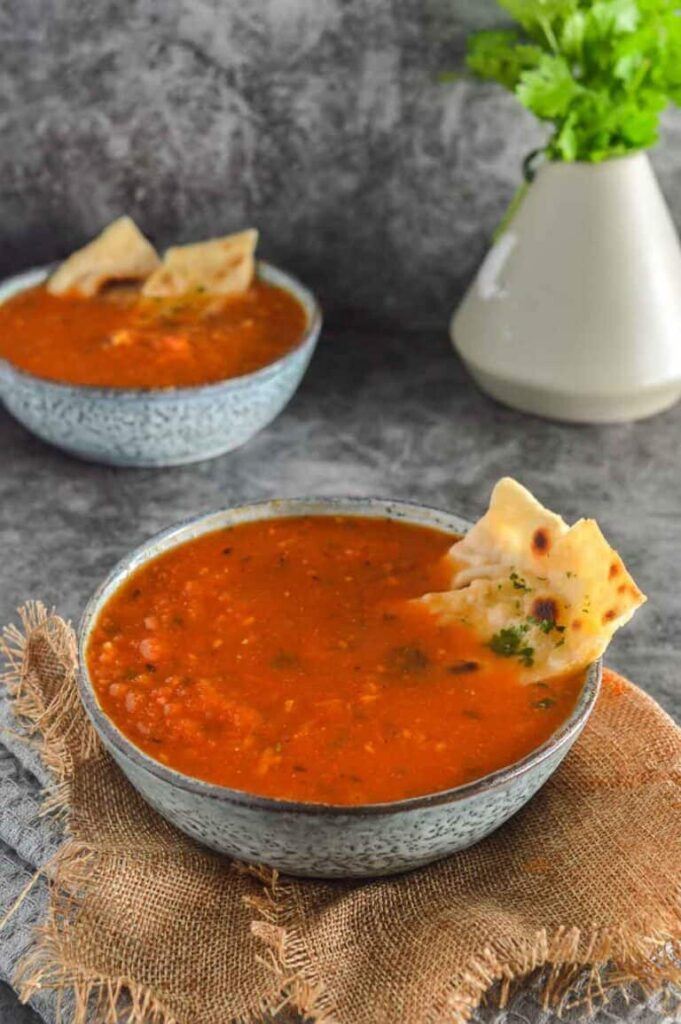 50 Vegan Indian Recipes – From comforting meals to showstopper desserts - Spicy Indian Tomato Soup | Hurry The Food Up