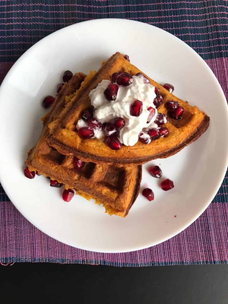 60 Vegan Weight Loss Recipes – Still delicious, just healthier - Easy, Delicious Sweet Potato Waffles | Hurry The Food Up