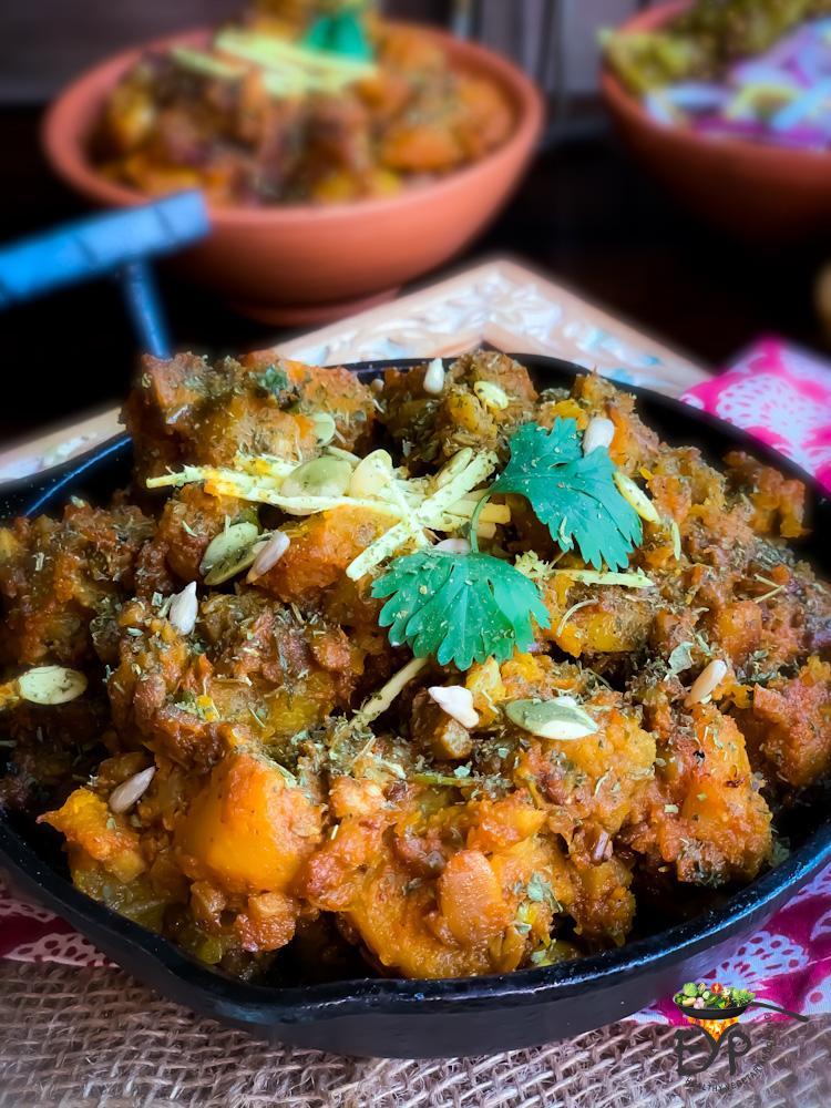 60 Vegan Weight Loss Recipes – Still delicious, just healthier - Sweet and Sour Pumpkin Curry – Khatta Meetha Kaddu | Hurry The Food Up