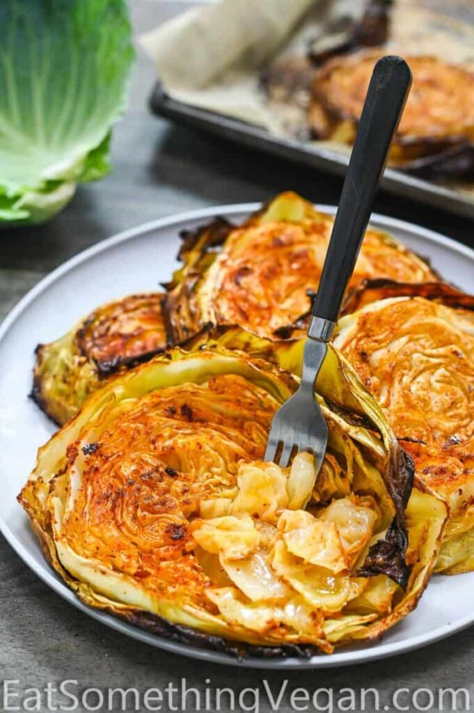 60 Vegan Weight Loss Recipes – Still delicious, just healthier - Roasted Cabbage Steaks | Hurry The Food Up