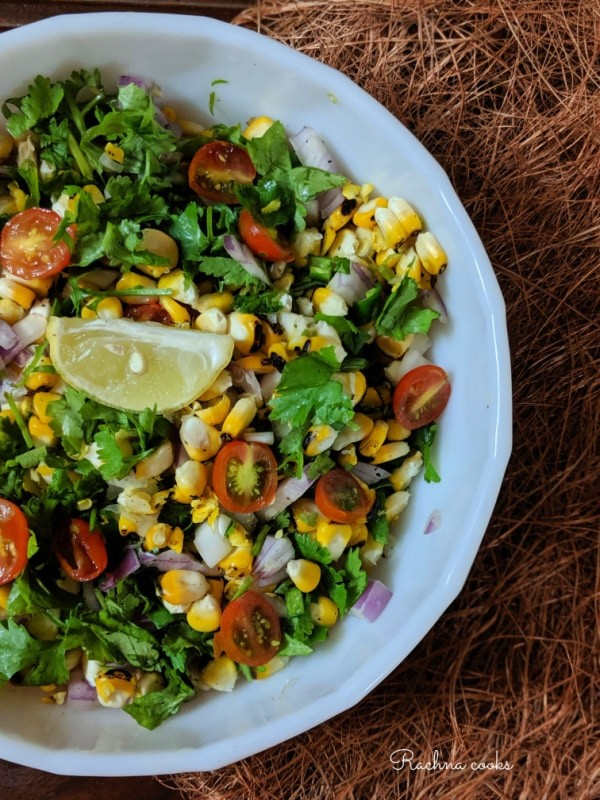 60 Vegan Weight Loss Recipes – Still delicious, just healthier - Fresh Corn Salsa | Hurry The Food Up