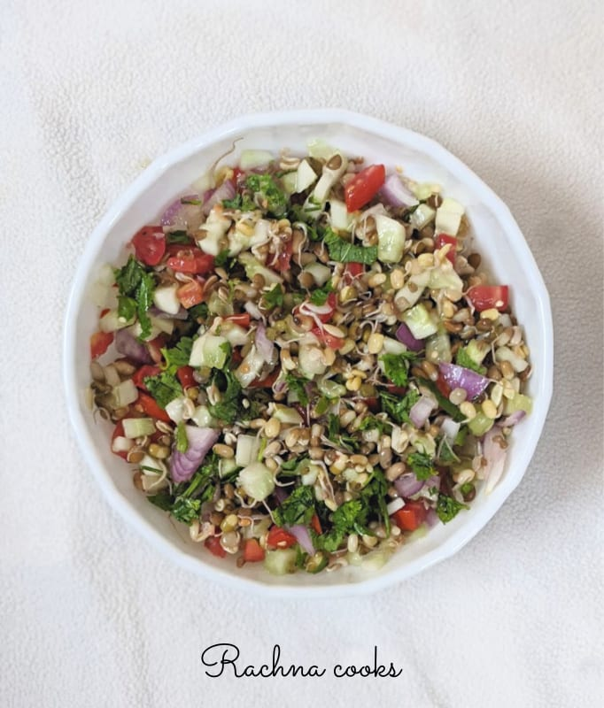 60 Vegan Weight Loss Recipes – Still delicious, just healthier - Vegan Sprouted Lentil Salad | Hurry The Food Up