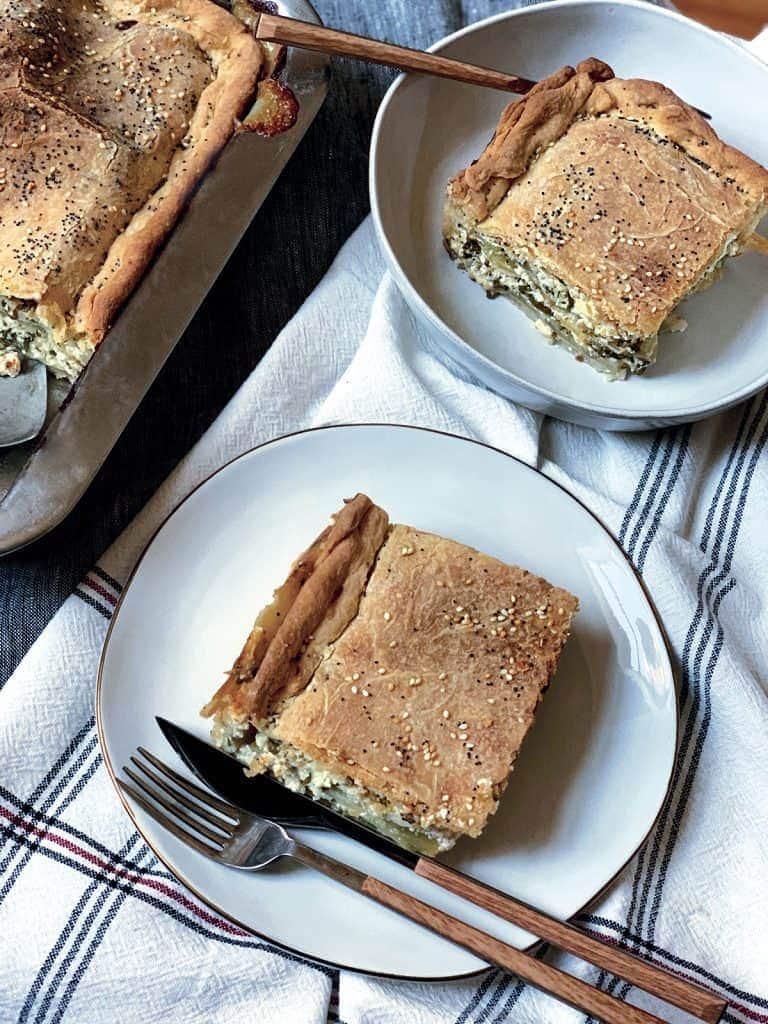 40 Sweet and Savory Vegetarian Pies – Bake your weekend away - Boureki – Potato & Zucchini Pie | Hurry The Food Up