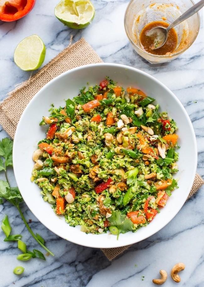 40 Vegan Broccoli Recipes – Plant-based plants - Chopped Thai Broccoli Salad | Hurry The Food Up